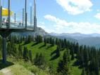 Blick auf die Zugspitze: Der linke Berg im Hintergrund ist der höchste Berg Deutschlands - die Zugspitze.
