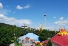 Blick vom Riesenrad im Freizeit-Land Geiselwind